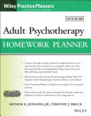 Adult Psychotherapy Homework Planner Book