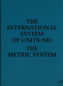 The International System of Units  Si