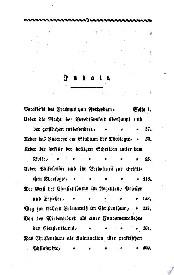 Paraklesis des Erasmus von Rotterda