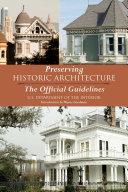 Preserving Historic Architecture Pdf/ePub eBook