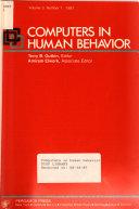 Computers in Human Behavior