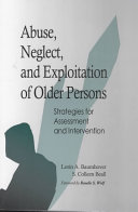 Abuse  Neglect  and Exploitation of Older Persons
