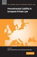 Precontractual Liability in European Private Law