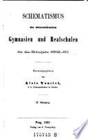 Schematismus der österreichischen Gymnasien und Realschulen