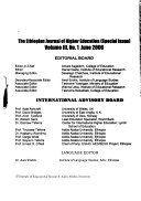 The Ethiopian Journal Of Higher Education