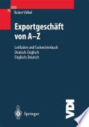 Exportgeschäft von A–Z