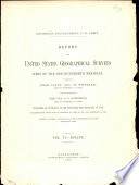 Report Upon United States Geographical Surveys West of the One Hundredth Meridian