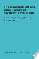 Measurement and Classification of Psychiatric Symptoms