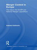 Merger Control in Europe Pdf/ePub eBook
