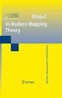 Moduli in Modern Mapping Theory