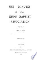 The Minutes of the Enon Baptist Association