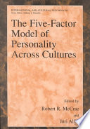 The Five Factor Model of Personality Across Cultures