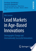 Lead Markets In Age Based Innovations Book PDF