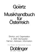 Musikhandbuch für Österreich