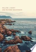 Dictionary Of Cape Breton English Book