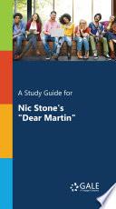 A Study Guide For Nic Stone S Dear Martin  Book