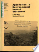 Cherokee National Forest (N.F.), Land and Resource(s) Management Plan (LRMP) (TN,NC,VA).