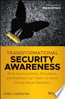 Transformational Security Awareness Book