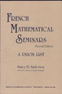 French Mathematical Seminars