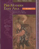 Pre Modern East Asia To 1800 Book PDF