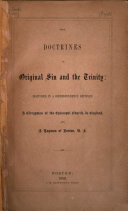 The Doctrines of Original Sin and the Trinity