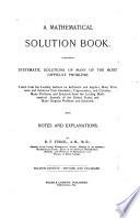 A Mathematical Solution Book