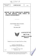 Report of the Democratic Members of the Special Task Force on Ethics Enforcement