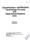 Classifications And Standard Terminology For Local And State School Systems 1974