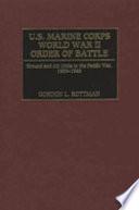 U S  Marine Corps World War II Order of Battle Book PDF