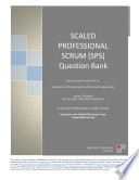 Scaled Professional Scrum (SPS) Exam Questions Bank