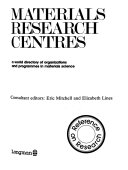 Materials Research Centres Book