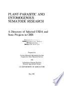 Plant-parasitic and Entomogenous Nematode Research