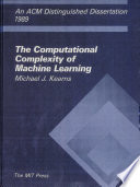 The Computational Complexity of Machine Learning Book