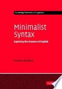Minimalist Syntax