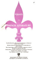Essays in French Literature