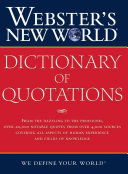 Webster S New World Dictionary Of Quotations