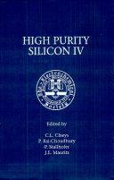Pdf Proceedings of the Fourth International Symposium on High Purity Silicon