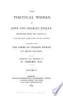 The Poetical Works Of John And Charles Wesley Hymns And Sacred Poems By C Wesley V I Pt Ii V Ii Pt Ii