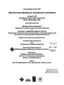 1997 16th Southern Biomedical Engineering Conference Book