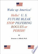 Wake Up America  Hello  U  S  Future Bleak Stop Pilfering Rogues Or Perish
