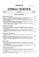 Journal of Animal Science