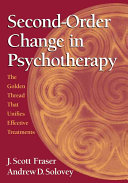 Second order Change in Psychotherapy Book