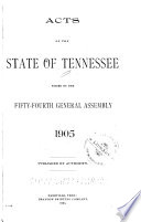 Acts of the State of Tennessee Passed by the General Assembly