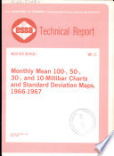 Monthly Mean 100 50 30 And 10 Millibar Charts And Standard Deviation Maps 1966 1967