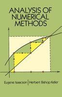 Analysis of Numerical Methods
