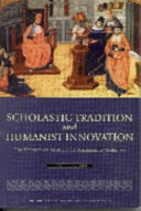 Scholastic Tradition And Humanist Innovation Book PDF
