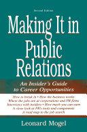 Making It in Public Relations