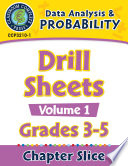 Data Analysis   Probability  Drill Sheets Vol  1 Gr  3 5