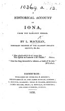 A historical account of Iona, etc ebook