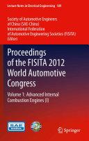 Proceedings of the FISITA 2012 World Automotive Congress Pdf/ePub eBook